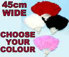 SHOWGIRL BURLESQUE MARABOU FANCY DRESS 20s 30s SHOW SOFT FLUFFY FEATHER HAND FAN