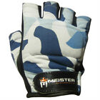 BLUE CAMO WEIGHT LIFTING WORKOUT LEATHER GLOVES - Meister Gym Fitness ALL SIZES