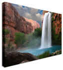 Large Picture Of Waterfall Red Canyon Canvas Wall Art Print