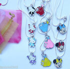Children's Necklace on 18 inch Snake Chain Hello Kitty, Minnie Mouse or Princess