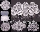 Wholesale 100/500pcs Clear Acrylic Round Loose Spacer Beads 4mm 6mm 8mm 10mm