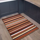 Terracotta Orange Red Practical Anti Slip Kitchen Machine Washable Big Small Mat