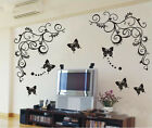 DIY House Decorative Wall Sticker,1 set=1 vine+3butterfly,50*60cm B006{1}
