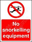 No Snorkelling equipment - WATE0002 stickers & signs -