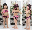 Girls Kids Swimwear Tankini Swimsuit Bikini Baby Age 2-7Y Bathers Costume Swim