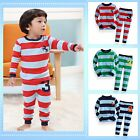 "NWT Vaenait Toddler Kid Girl Boy Long Sleepwear Pyjama Set "" Stripe NO.3 """