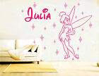 Tinkerbell Fairy PERSONALISED Girls NAME Vinyl  Wall Sticker Art Decal (CH42)