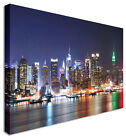 Large New York Rainbow Nights Canvas Wall Art Pictures For Home Interiors