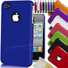 NEW STYLISH FLEXIBLE SERIES HARD CASE COVER FITS IPHONE 4 4S SCREEN PROTECTOR