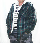 MENS CHECK HOODED, ZIP UP FULLY FLEECED LINED LUMBER JACKET, SWEATSHIRT S,M,L,XL