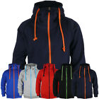 ililily New Mens Hoodies Stylish Zipup Jacket Cotton Top 5color 6size Hoody 006