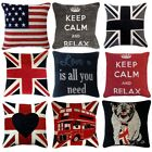 "UNION JACK & RETRO Design Chenille Cushion Covers or Filled Cushions 18"" / 45cm"