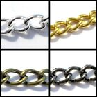 1 Meter Metal Cable Chain 6x4mmx1mm - Various Colour