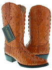 mens cognac brown full crocodile alligator ostrich tail cut cowboy boots