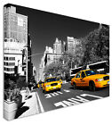 New York Taxi Drag Race B&W Canvas Wall Art Pictures For Home Interiors