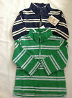 BOYS BODEN VINTAGE LOOK HALF ZIP STRIPED SWEATER TOP NAVY OR GREEN RRP £22 - £24