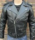 MENS BLACK MOTORCYCLE MOTORBIKER BRANDO PERFECTO CLASSIC LEATHER JACKET