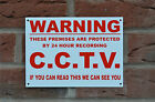 Warning 24 Hour CCTV We Can See You Plastic Or Metal Sign Or Sticker A5
