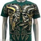 a64n2 M L XL XXL Artful T-shirt Tattoo Skull Fighter Retro Street Skate Punk Men