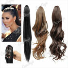 1pcs Synthetic Fiber Wig Pony Tail Extension Stright Curly For Women