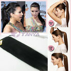 "80g human hair high ponytail clip in 100% human hair ponytail extension 16""20""24"