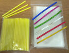 50 x 89mm YELLOW PLASTIC LOLLIPOP STICKS CAKE POP KIT INCLUDES BAGS & TWISTTIES