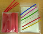 50 x 89mm RED PLASTIC LOLLIPOP STICKS CAKE POP KIT INCLUDES BAGS & TWISTTIES