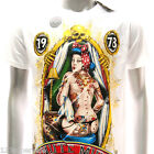 m242w Minute Mirth T-shirt Tattoo Skull Sexy Lady Nude Girl Skate Biker Cotton