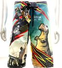 "z6 Minute Mirth Shorts Sz 32"" 34"" 36"" 38"" Skateboard Street Trunks Swim Tattoo"