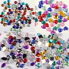 Mixed Color Acrylic Rhinestone Flatback For Phone Decor 4 Shaped To Choose