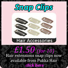 10 New Replacement Clip In Hair Extensions & Wefts SNAP CLIPS Blonde Brown Black