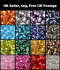 50g 11/0, 6/0, 8/0 Silver Lined Glass Seed Beads - Various Colour & Size