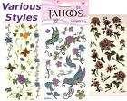 MANY STYLES Temporary Tattoo: Rose Heart Butterflies Love Flowers Girls party