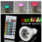 1x,4x,6x,10x 3W GU10 RGB 16 Color IR Remote Control Colour LED Light Bulb Lamp
