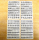 9.5mm Black Sticky Vinyl Letters or Numbers Stickers Adhesive Plastic Labels