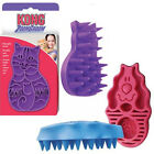 KONG Zoom Groom Dog or Cat Grooming Shedding Rubber Shampooing Brush Wet or Dry