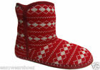 NEW LADIES SLIPPERS ANKLE BOOTIES WOMENS COSY WARM WINTER SNOW SHOES FLUFFY SOFT