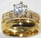 size L N P R  Solitaire wedding set Engagement Ring Simulated DIAMOND LSTR385