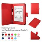 Leather Case Smart Cover + Stylus Holder For Kindle Paperwhite 2012 & 2013 Red
