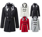 V21 WOMENS FLEECE CHECK HOODED LADIES TOGGLE WINTER JACKET COAT PLUS SIZE 16-28