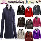 New Winter Quilted Jacket Coat Padded Warm Trendy Top Size  8 10 12 14 S M L XL