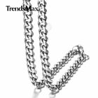 "3/5/7mm Stainless Steel Silver Cuban Link Chain Men Necklaces 18""-36 Inches"