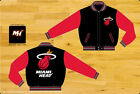 Miami Heat 2-Tone Reversible Black and Red Kids Wool Jacket by JH Design