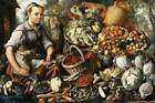 Photo Print Market Woman with Fruit, Vegetables and Poultry Beuckelaer, Joachim