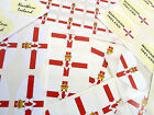 Ulster Banner Flag Stickers, Northern Ireland Labels - Various Shapes & Sizes