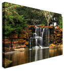 Large Picture Waterfall Seeping Water Canvas Art Cheap Print