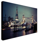 Large Picture The London Shard and Bridge Canvas Art Cheap Print