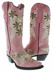 Women's ladies leather cowboy boots western embroidered sexy biker hot new heart