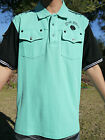 NEW AUTHENTIC MEN'S CROWN HOLDER POLO SHIRTS MINT/BLACK COLORS SIZE XL,4XL&5XL