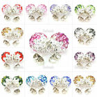 NEW PREMIUM SHAMBALLA CZECH CRYSTAL CLAY DISCO BALL 10mm STUD EARRINGS 12 COLORS